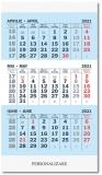 Calendar cu magnet triptic, 8.5 x 14 cm, 12 file, 2021