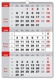 Calendar triptic gri 2020