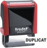 Stampila notariala Duplicat 38 x 14 mm Trodat