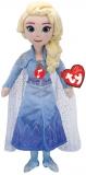 Jucarie plus cu sunete, 40 cm, Beanie Babies Frozen 2 Elsa Princess TY