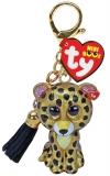 Jucarie plus cu breloc 7 cm Mini Boos Sterling leopard TY
