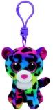 Jucarie Plus cu breloc 8.5 cm Beanie Boos Dotty Multicolor Leopard TY