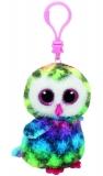 Jucarie Plus cu breloc 8.5 cm Beanie Boos Owen Multicolor Owl TY