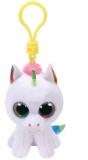 Jucarie plus cu breloc 8.5 cm Beanie Boos PIXY - white unicorn TY