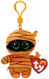 Jucarie plus cu breloc 8.5 cm Beanie Boos MASK - orange mummy TY