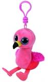 Jucarie Plus cu breloc 8.5 cm Beanie Boos Gilda Flamingo TY