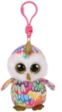 Jucarie plus cu breloc 8.5 cm Beanie Boos Enchanted Owl With Horn TY
