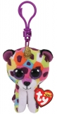 Jucarie plus cu breloc 8.5 cm Beanie Boos Giselle rainbow leopard with horn TY