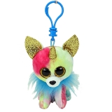 Jucarie plus cu breloc 8.5 cm Beanie Boos Yips chihuahua with horn TY