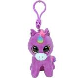 Jucarie plus cu breloc 8.5 cm Beanie Boos Rosette purple unicorn TY