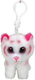 Jucarie plus cu breloc 8.5 cm Beanie Boos Tabor pink-white tiger TY