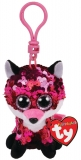Jucarie plus cu breloc 8.5 cm Beanie Boos Flippables Jewel Fox TY