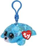 Jucarie plus cu breloc 8.5 cm Beanie Boos Flippables Waves Aqua Seal TY