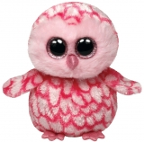 Jucarie Plus 15 cm Beanie Boos Pinky pink barn owl TY
