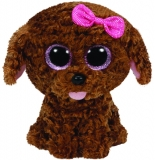 Jucarie Plus 15 cm Beanie Boos Curly brown dog TY