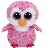 Jucarie plus 15 cm Beanie Boos GLIDER - pink penguin TY