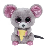 Jucarie Plus 15 cm Beanie Boos Squeaker mouse with cheese TY
