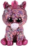 Jucarie plus 15 cm Beanie Boos Flippables Sparkle Pink Unicorn TY