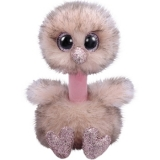 Jucarie plus 42 cm Beanie Boos Henna pink brown tipped ostrich TY