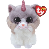 Jucarie plus 15 cm Beanie Boos Asher cat with horn TY