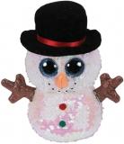 Jucarie plus 15 cm Beanie Boos Flippables Mel Snowman TY