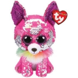 Jucarie plus 15 cm Beanie Boos Flippables Charmed pink sequin chihuahua TY