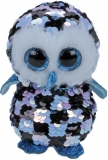 Jucarie plus 15 cm Beanie Boos Flippables Topper Blue-Black Owl TY