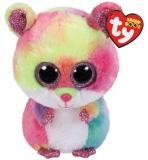 Jucarie plus 24 cm Beanie Boos RODNEY - multicolor hamster TY