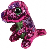 Jucarie plus 24 cm Beanie Boos Flippables STOMPY - pink-green dinosaur TY