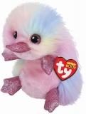 Jucarie plus 24 cm Beanie Boos Petunia Pastel Platypus TY