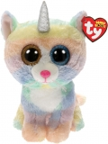 Jucarie plus 24 cm Beanie Boos Heather cat with horn TY