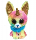 Jucarie plus 24 cm Beanie Boos Yips chihuahua with horn TY