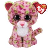Jucarie plus 24 cm Beanie Boos Lainey pink leopard TY