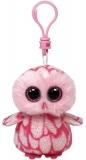 Jucarie Plus cu Breloc 8.5 cm Beanie Boos Pinky pink barn owl TY