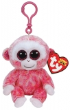 Jucarie Plus cu Breloc 8.5 cm Beanie Boos Ruby red/white monkey TY