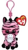 Jucarie Plus cu Breloc 8.5 cm Beanie Boos Zoey pink zebra TY