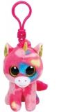 Jucarie plus cu breloc 8.5 cm Beanie Boos FANTASIA - multicolor unicorn TY