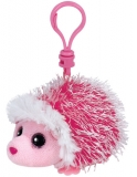 Jucarie Plus cu Breloc 8.5 cm Beanie Babies Mrs.Prickly pink hedgehog TY