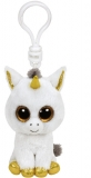 Jucarie plus cu breloc 8.5 cm Beanie Boos PEGASUS - white unicorn TY