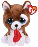 Jucarie plus 24 cm Beanie Boos Smootches Dog With Heart TY