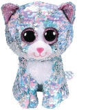 Jucarie plus 15 cm Beanie Boos Flippables Whimsy Blue Cat TY
