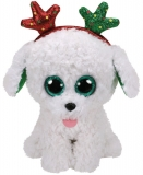 Jucarie plus 15 cm Beanie Boos Sugar Dog With Antlers TY