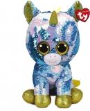 Jucarie plus 42 cm Beanie Boos Flippables Dazzle White Unicorn TY