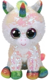 Jucarie plus 24 cm Beanie Boos Flippables Pixy White Unicorn TY