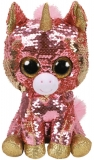 Jucarie plus 24 cm Beanie Boos Flippables Sunset Coral Unicorn TY