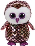 Jucarie plus 24 cm Beanie Boos Flippables Checks Pink-Black Owl TY