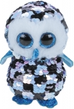 Jucarie plus 24 cm Beanie Boos Flippables Topper Blue-Black Owl TY