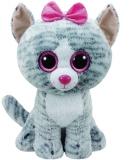 Jucarie plus 42 cm Beanie Boos Kiki Grey Cat TY
