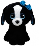 Jucarie plus 42 cm Beanie Boos TRACEY - black/white dog TY