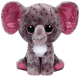 Jucarie Plus 24 cm Beanie Boos Specks grey speckled elephant TY
